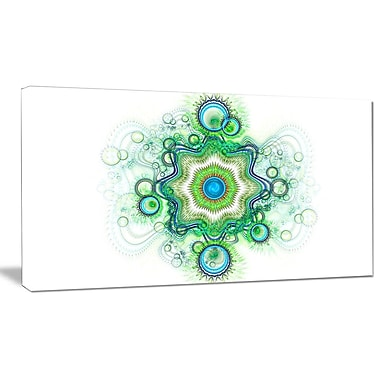 DesignArt 'Cabalistic Star Fractal Flower' Graphic Art on Wrapped Canvas; 12'' H x 20'' W x 1'' D