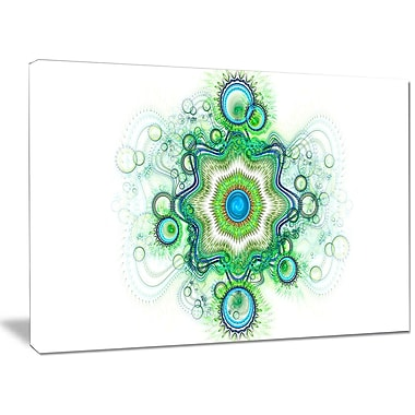 DesignArt 'Cabalistic Star Fractal Flower' Graphic Art on Wrapped Canvas; 30'' H x 40'' W x 1'' D