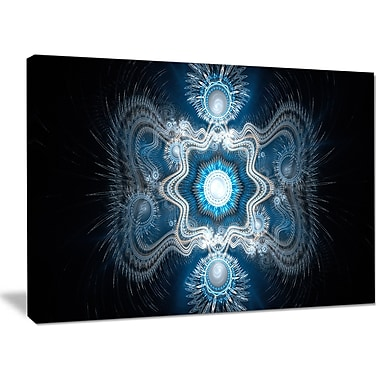 DesignArt 'Cabalistic Clear Blue Texture' Graphic Art on Wrapped Canvas; 30'' H x 40'' W x 1'' D