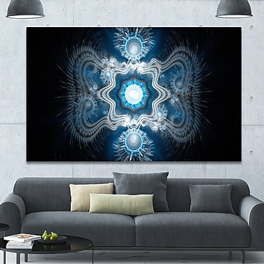 DesignArt 'Cabalistic Clear Blue Texture' Graphic Art on Wrapped Canvas; 40'' H x 60'' W x 1.5'' D