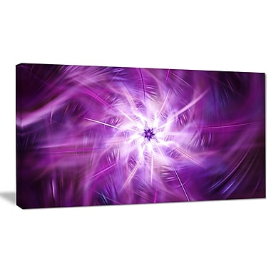 DesignArt 'Rotating Bright Purple Fireworks' Graphic Art on Wrapped Canvas; 20'' H x 40'' W x 1'' D