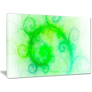 DesignArt 'Beautiful Bright Green Pattern' Graphic Art on Wrapped Canvas; 30'' H x 40'' W x 1'' D