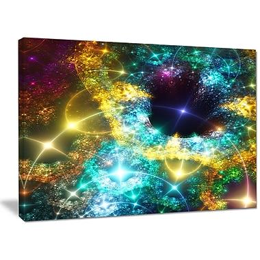 DesignArt 'Golden Cosmic Black Hole' Graphic Art on Wrapped Canvas; 30'' H x 40'' W x 1'' D