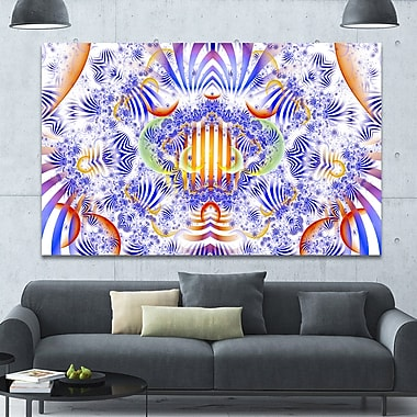 DesignArt 'Magical Fairy Pattern Blue' Graphic Art on Wrapped Canvas; 40'' H x 60'' W x 1.5'' D