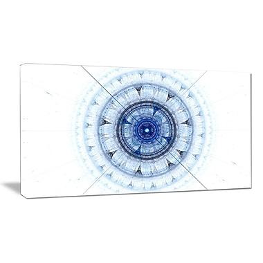 DesignArt 'Cabalistic Blue Fractal Sphere' Graphic Art on Wrapped Canvas; 20'' H x 40'' W x 1'' D