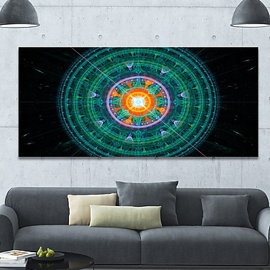 DesignArt 'Cabalistic Turquoise Fractal Sphere' Graphic Art on Wrapped Canvas