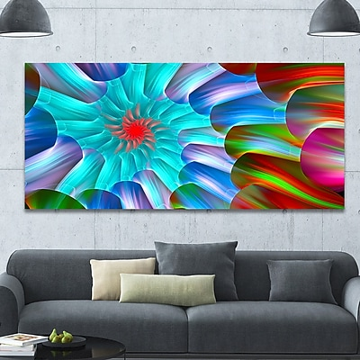 DesignArt 'Multi-Layered Fractal Spirals' Graphic Art on Wrapped Canvas; 28'' H x 60'' W x 1.5'' D