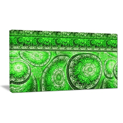 DesignArt 'Green Living Cells Fractal Design' Graphic Art on Wrapped Canvas; 16'' H x 32'' W x 1'' D