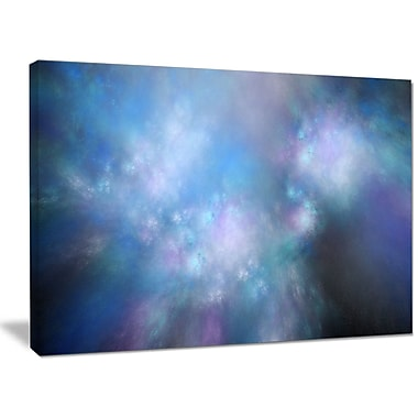 DesignArt 'Perfect Light Blue Starry Sky' Graphic Art on Wrapped Canvas; 30'' H x 40'' W x 1'' D