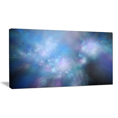 DesignArt 'Perfect Light Blue Starry Sky' Graphic Art on Wrapped Canvas; 16'' H x 32'' W x 1'' D
