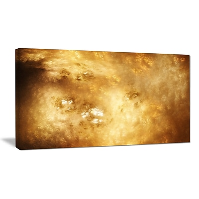 DesignArt 'Perfect Brown Starry Sky' Graphic Art on Wrapped Canvas; 16'' H x 32'' W x 1'' D