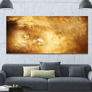 DesignArt 'Perfect Brown Starry Sky' Graphic Art on Wrapped Canvas; 28'' H x 60'' W x 1.5'' D