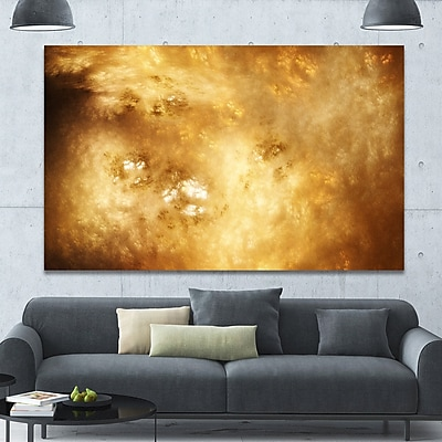 DesignArt 'Perfect Brown Starry Sky' Graphic Art on Wrapped Canvas; 40'' H x 60'' W x 1.5'' D