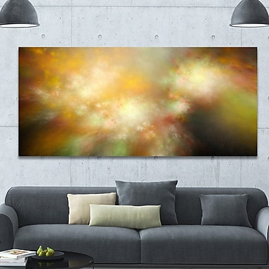 DesignArt 'Perfect Yellow Green Starry Sky' Graphic Art on Wrapped Canvas; 28'' H x 60'' W x 1.5'' D