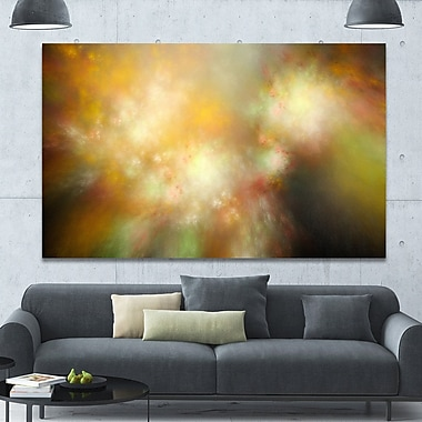 DesignArt 'Perfect Yellow Green Starry Sky' Graphic Art on Wrapped Canvas; 40'' H x 60'' W x 1.5'' D