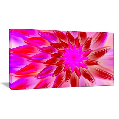 DesignArt 'Beautiful Pink Flower Petals' Graphic Art on Wrapped Canvas; 20'' H x 40'' W x 1'' D