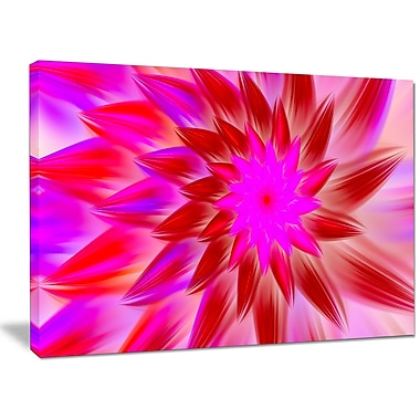 DesignArt 'Beautiful Pink Flower Petals' Graphic Art on Wrapped Canvas; 30'' H x 40'' W x 1'' D