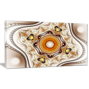 DesignArt 'Fractal Circles and Wavy Curves' Graphic Art on Wrapped Canvas; 16'' H x 32'' W x 1'' D