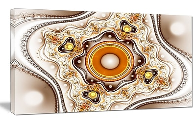DesignArt 'Fractal Circles and Wavy Curves' Graphic Art on Wrapped Canvas; 20'' H x 40'' W x 1'' D