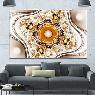 DesignArt 'Fractal Circles and Wavy Curves' Graphic Art on Wrapped Canvas; 40'' H x 60'' W x 1.5'' D