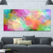 DesignArt 'Multi-Color Polygonal Mosaic Pattern' Graphic Art on Wrapped Canvas