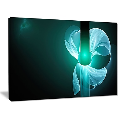 DesignArt 'Blue Flower Fractal Illustration' Graphic Art on Wrapped Canvas; 30'' H x 40'' W x 1'' D