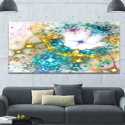 DesignArt 'Blue Cosmic Black Hole.' Graphic Art on Wrapped Canvas; 28'' H x 60'' W x 1.5'' D
