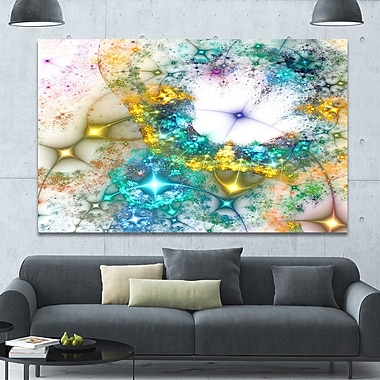 DesignArt 'Blue Cosmic Black Hole.' Graphic Art on Wrapped Canvas; 40'' H x 60'' W x 1.5'' D