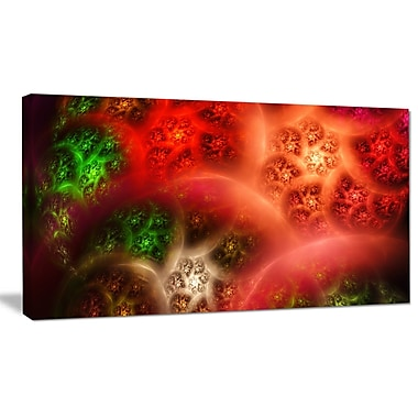 DesignArt 'Red Magic Stormy Sky' Graphic Art on Wrapped Canvas; 16'' H x 32'' W x 1'' D