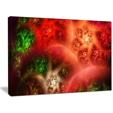 DesignArt 'Red Magic Stormy Sky' Graphic Art on Wrapped Canvas; 30'' H x 40'' W x 1'' D