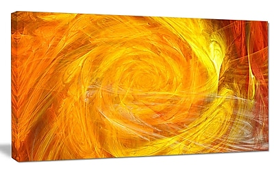 DesignArt 'Mystic Abstract Fractal Rose' Graphic Art on Wrapped Canvas; 20'' H x 40'' W x 1'' D