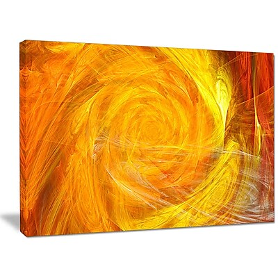 DesignArt 'Mystic Abstract Fractal Rose' Graphic Art on Wrapped Canvas; 30'' H x 40'' W x 1'' D
