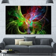 DesignArt 'Multi-Color Fractal Abstract Design' Graphic Art on Wrapped Canvas