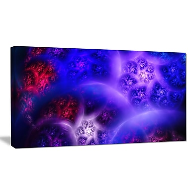DesignArt 'Bright Blue Magic Stormy Sky' Graphic Art on Wrapped Canvas; 16'' H x 32'' W x 1'' D