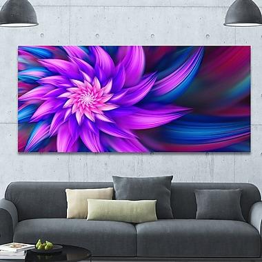 DesignArt 'Huge Purple Fractal Flower' Graphic Art on Canvas; 28'' H x 60'' W x 1.5'' D