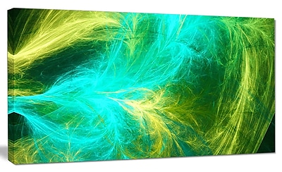 DesignArt 'Green Mystic Psychedelic Design' Graphic Art on Canvas; 20'' H x 40'' W x 1'' D