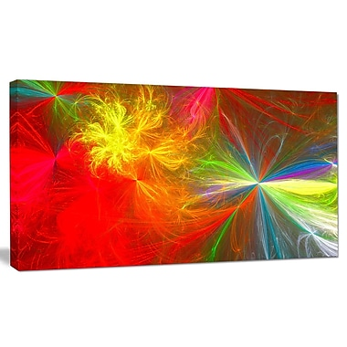 DesignArt 'Colorful Christmas Spectacular Show' Graphic Art on Canvas; 16'' H x 32'' W x 1'' D