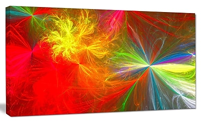 DesignArt 'Colorful Christmas Spectacular Show' Graphic Art on Canvas; 12'' H x 20'' W x 1'' D