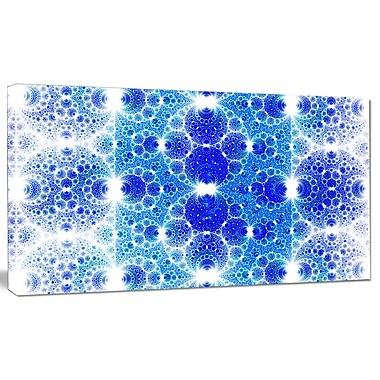 DesignArt 'Exotic Blue Fractal Crescent Pattern' Graphic Art on Canvas; 20'' H x 40'' W x 1'' D