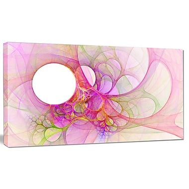 DesignArt 'Light Pink Angel Wings on White' Graphic Art on Canvas; 12'' H x 20'' W x 1'' D