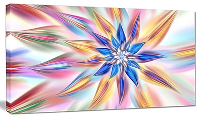 DesignArt 'Exotic Dance of Multi-Color Petals' Graphic Art on Canvas; 16'' H x 32'' W x 1'' D