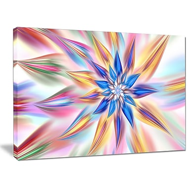 DesignArt 'Exotic Dance of Multi-Color Petals' Graphic Art on Canvas; 30'' H x 40'' W x 1'' D