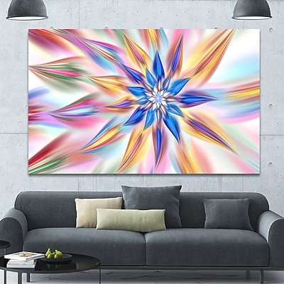 DesignArt 'Exotic Dance of Multi-Color Petals' Graphic Art on Canvas; 40'' H x 60'' W x 1.5'' D