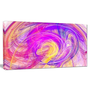 DesignArt 'Circled Blue Psychedelic Texture' Abstract Art on Canvas ; 20'' H x 40'' W x 1'' D