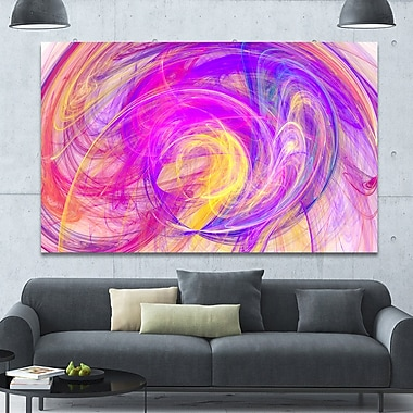 DesignArt 'Circled Blue Psychedelic Texture' Abstract Art on Canvas ; 40'' H x 60'' W x 1.5'' D