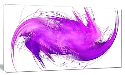 DesignArt 'Abstract Purple Fractal Pattern' Graphic Art on Canvas; 20'' H x 40'' W x 1'' D