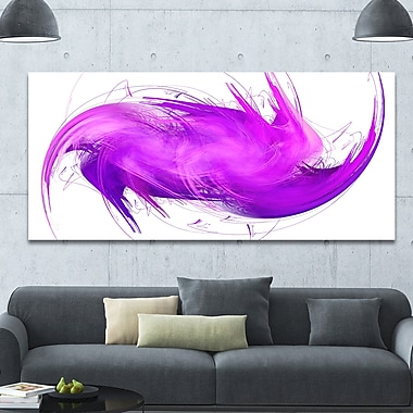 DesignArt 'Abstract Purple Fractal Pattern' Graphic Art on Canvas; 28'' H x 60'' W x 1.5'' D