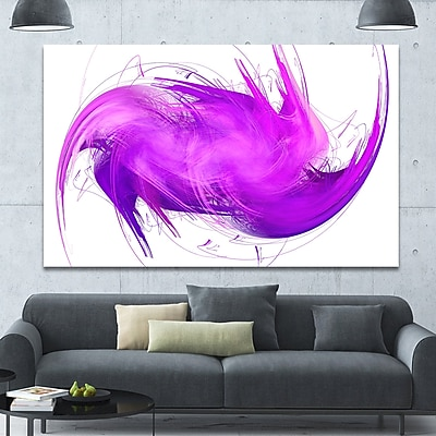 DesignArt 'Abstract Purple Fractal Pattern' Graphic Art on Canvas; 40'' H x 60'' W x 1.5'' D