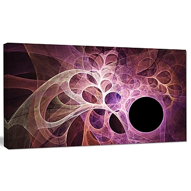 DesignArt 'Fractal Angel Wings in Pink' Graphic Art on Canvas; 12'' H x 20'' W x 1'' D