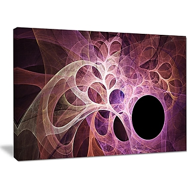 DesignArt 'Fractal Angel Wings in Pink' Graphic Art on Canvas; 30'' H x 40'' W x 1'' D